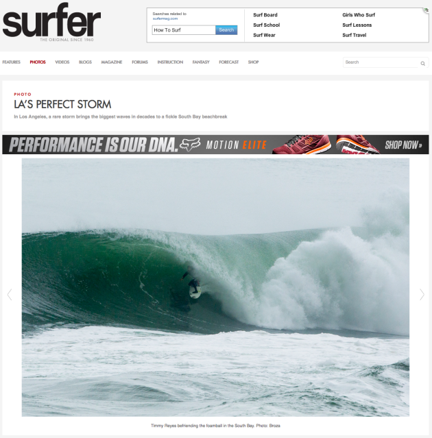March 2, 2014 - Surfer Magazine, Timmy Reyes