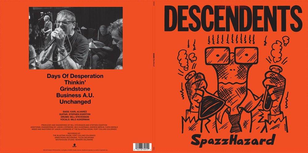 """July 29, 2016 - Descendents """"SpazHazard"""" Back Album Cover"""