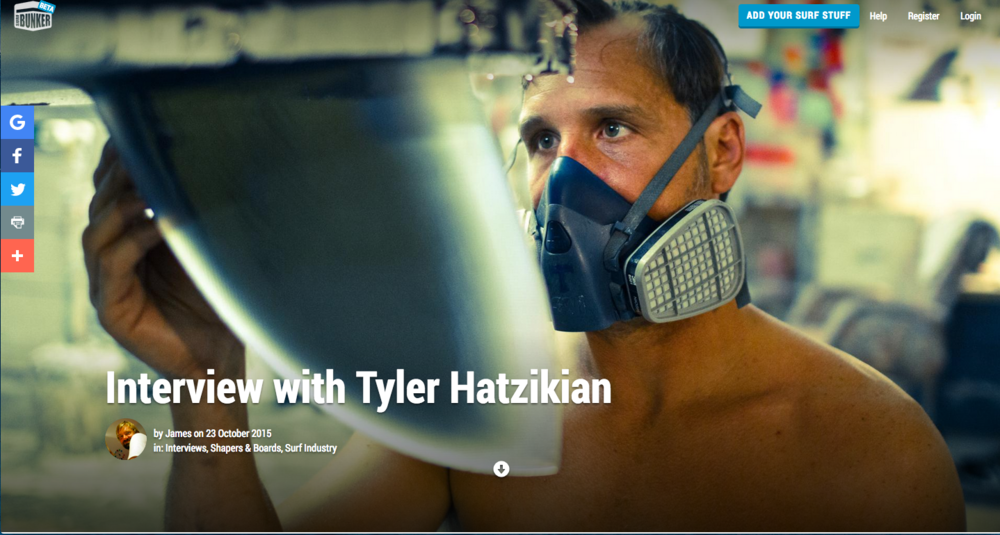 October 23, 2015 - Surf Bunker - Tyler Hatzikian Interview