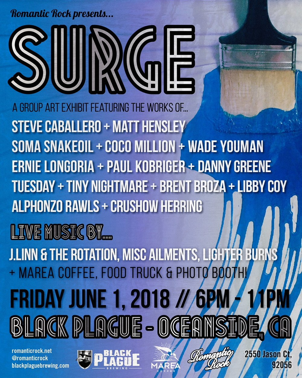 June 1, 2018 - SURGE Art Show, San Diego