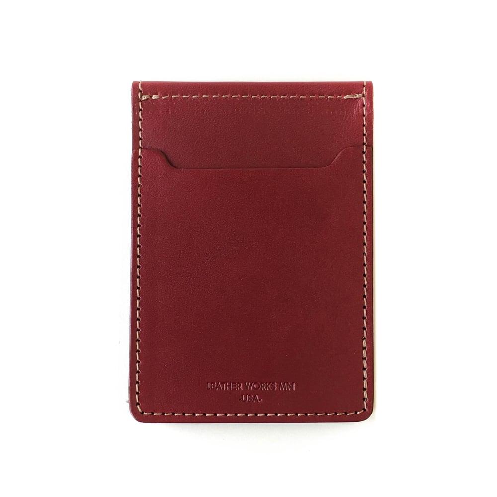 Leather Works Minnesota Money Clip Wallet - Oxblood