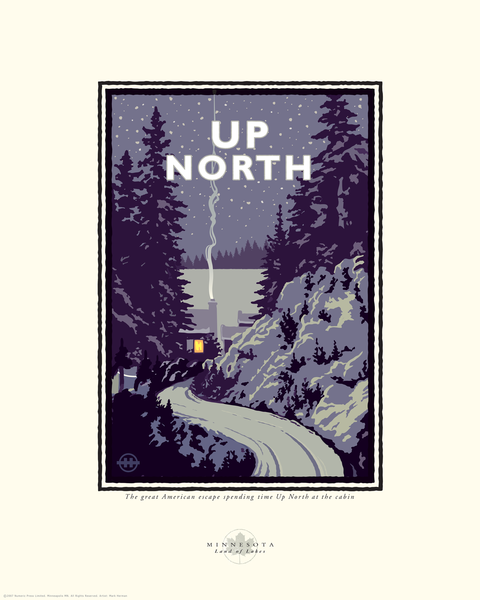 Great Lakes Collection Up North Print by Mark Herman.