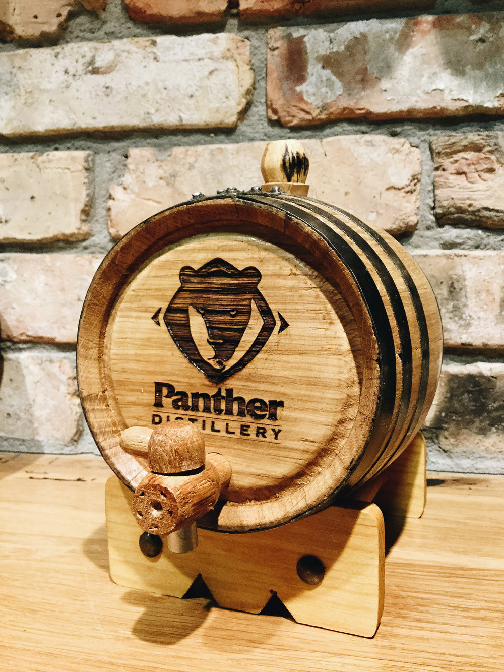 Mini Barrel. Age a bottle of White Water Whiskey for one month to get the equivalent of our two year aged Minnesota 14! Panther Distillery Mini Barrel