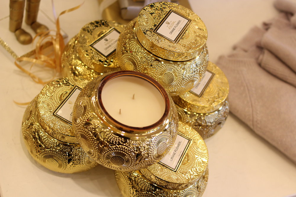 Voluspa candles of all sizes and fragrances!