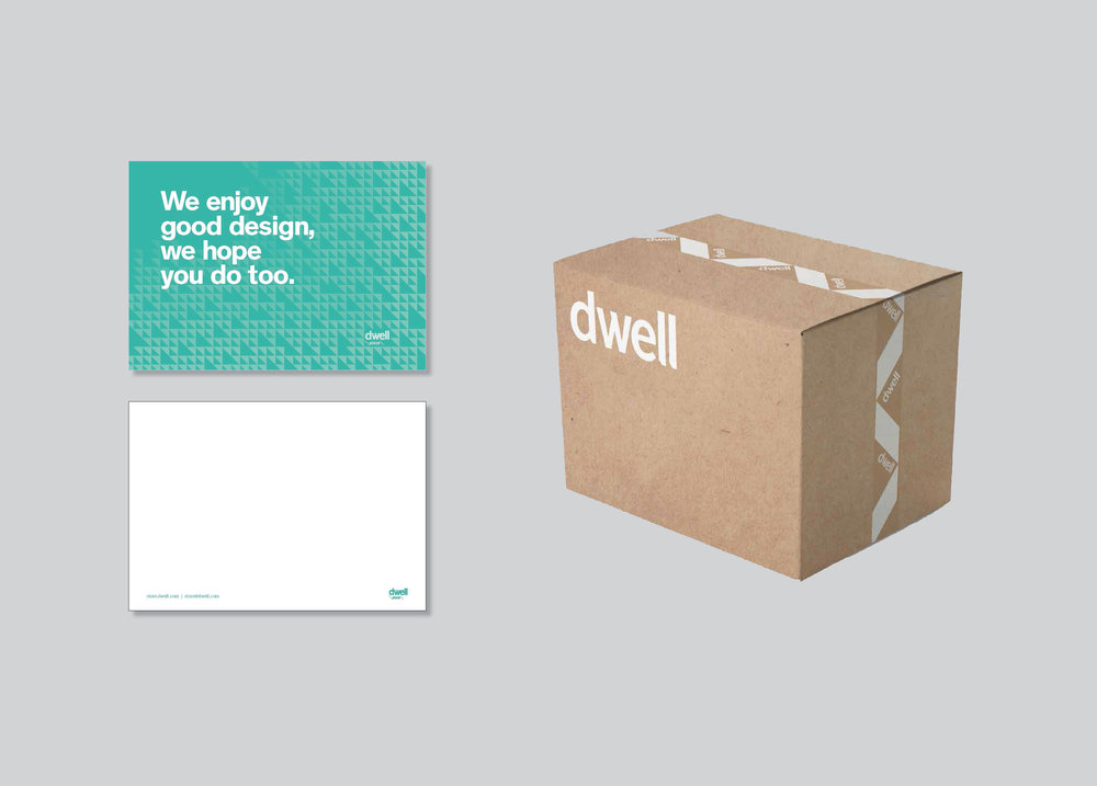 thank you card inserts were created for customer packages