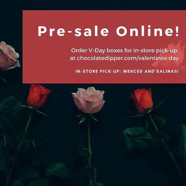 Order your #VDAY boxes online for in-store pickup at chocolatedipper.com/valentines-day. Now go DM it to your lover! JK 😈