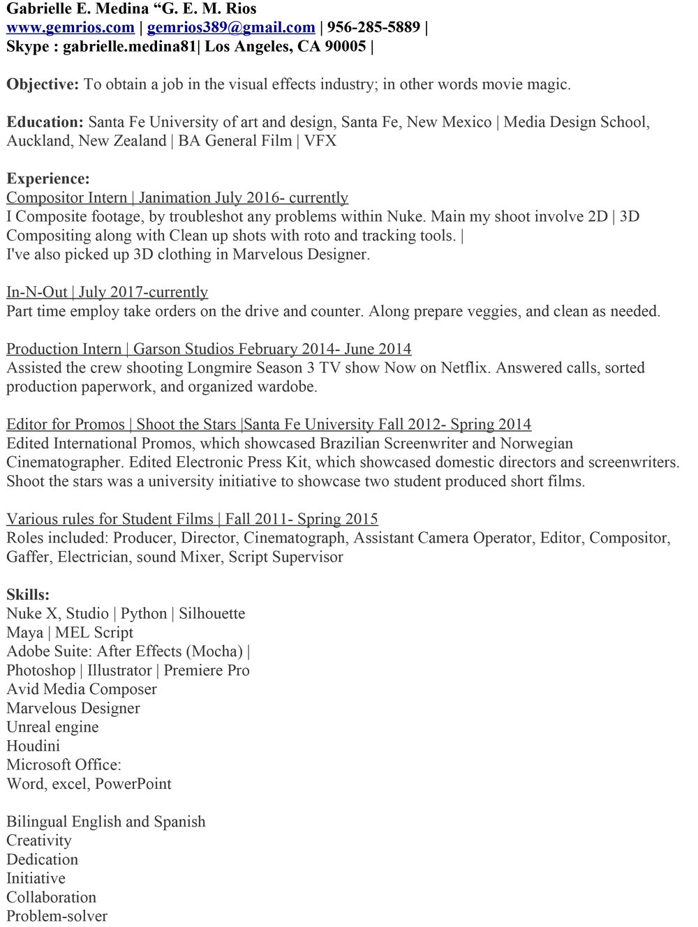 Exelent Vfx Compositor Cv Images - Professional Resume Examples ...