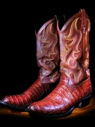 The famous boots of Jerry Jones