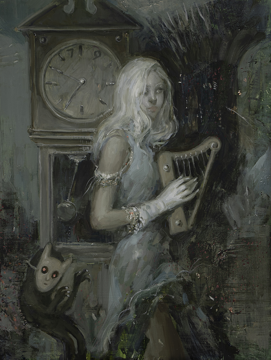 """Sound Of A Minute // oil on panel // 10"""" x 13"""""""