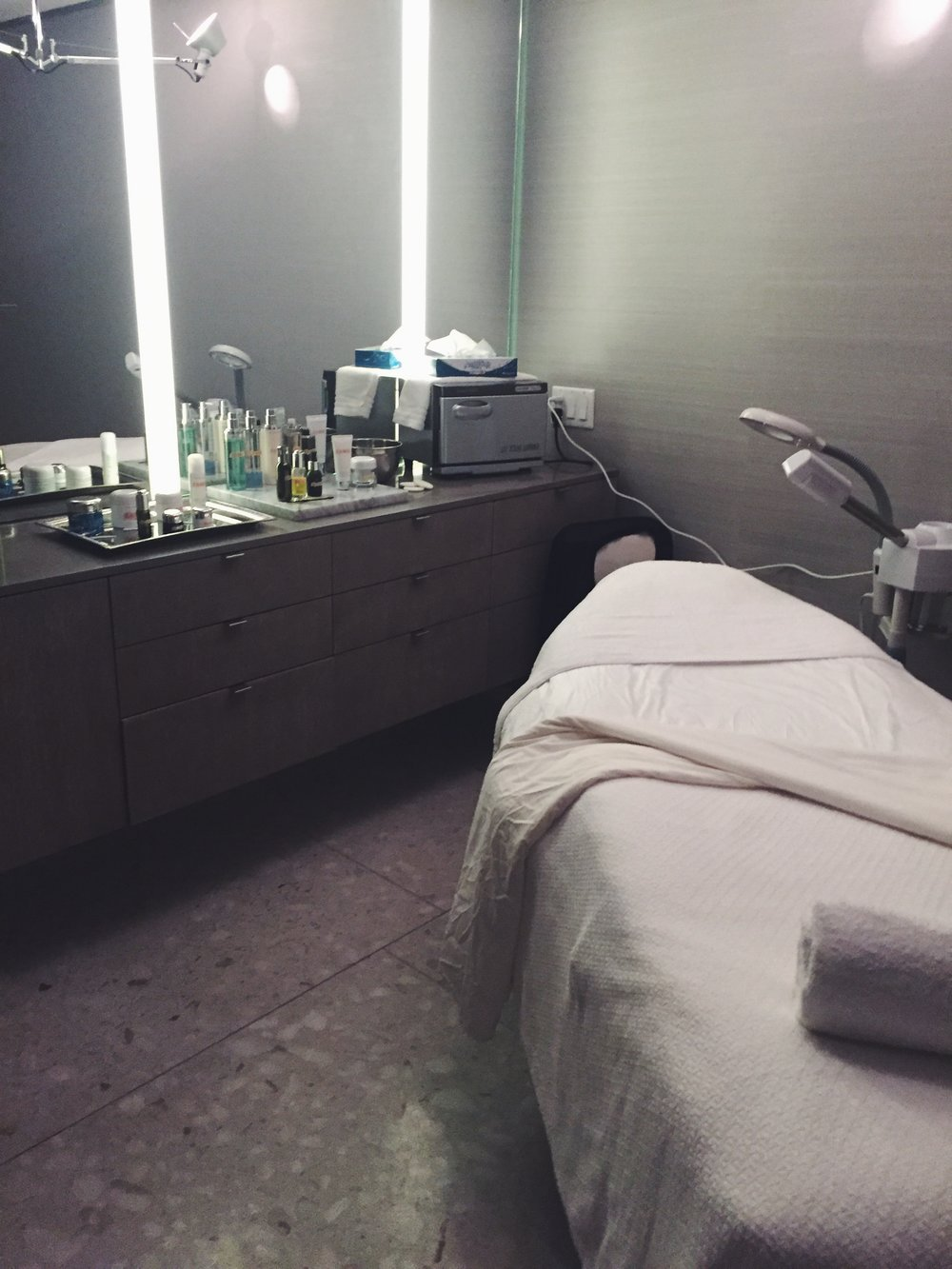 Barney's private facial room