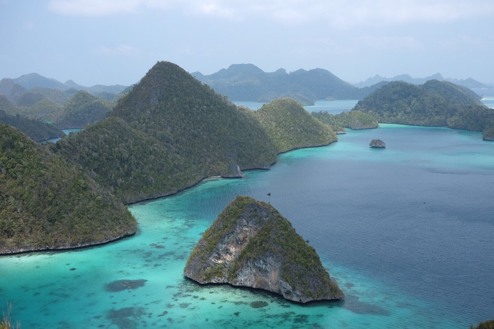 View of an array of Karst Islands