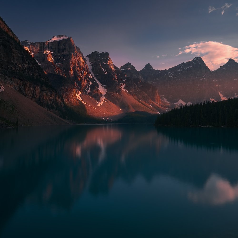 Moraine sunset, banff, Alberta