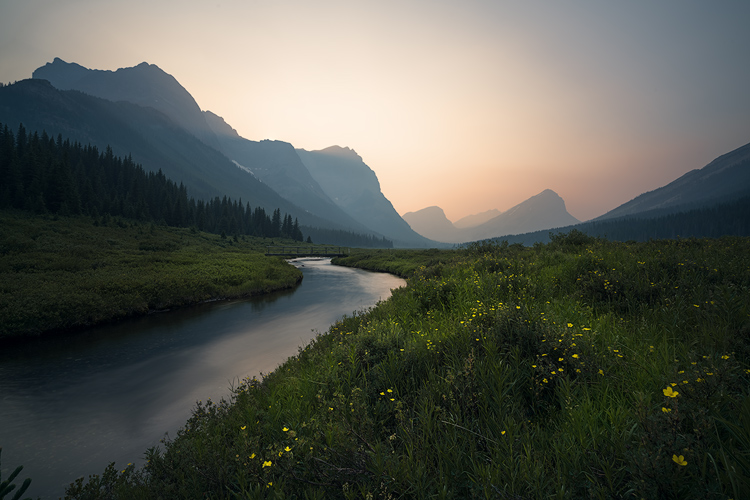 Smoky sunsey, banff, alberta