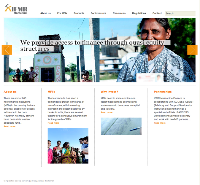 IFMR Mezzanine Homepage