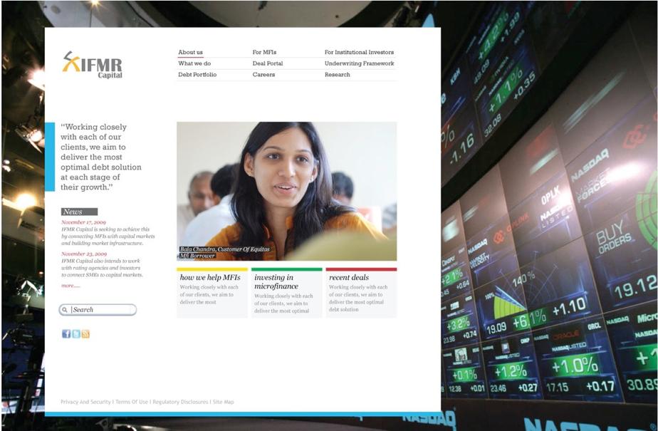 IFMR Capital Homepage