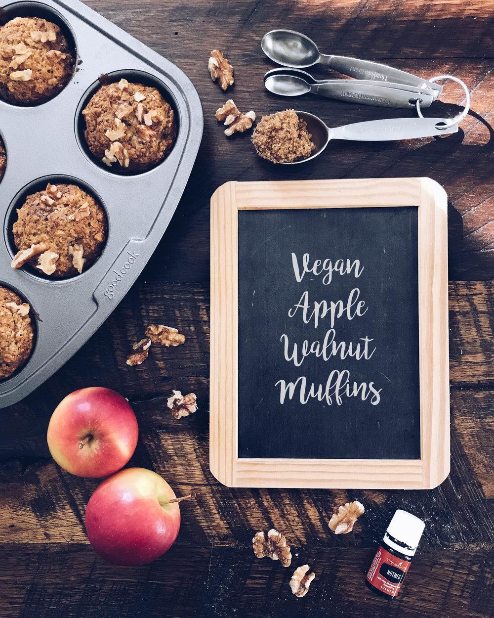 Vegan Apple Walnut Muffins Recipe