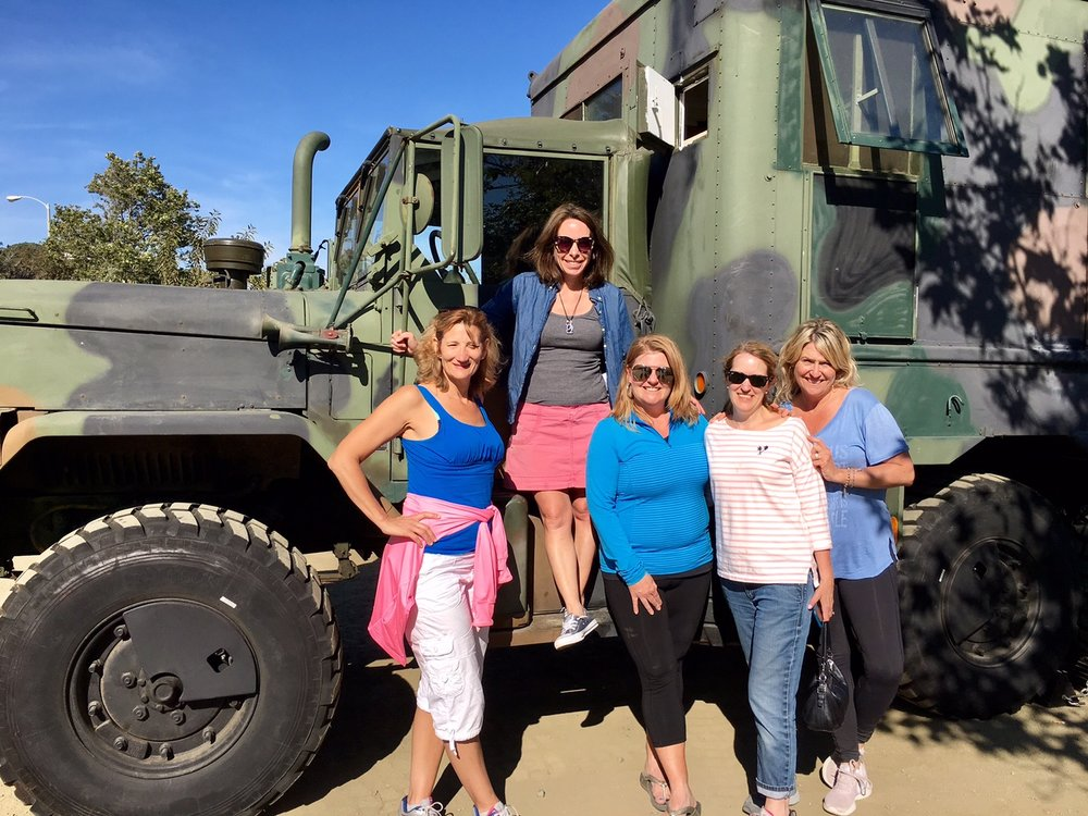 Yup, this is how the Garage Girls roll. In an 11-ton military truck with a shaded, comfy private cabana inside! You'll leave your custom retreat on a high with incredible memories and plenty of pics for Instagram!   -