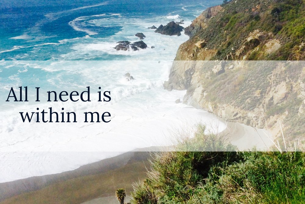 All I need is within me!