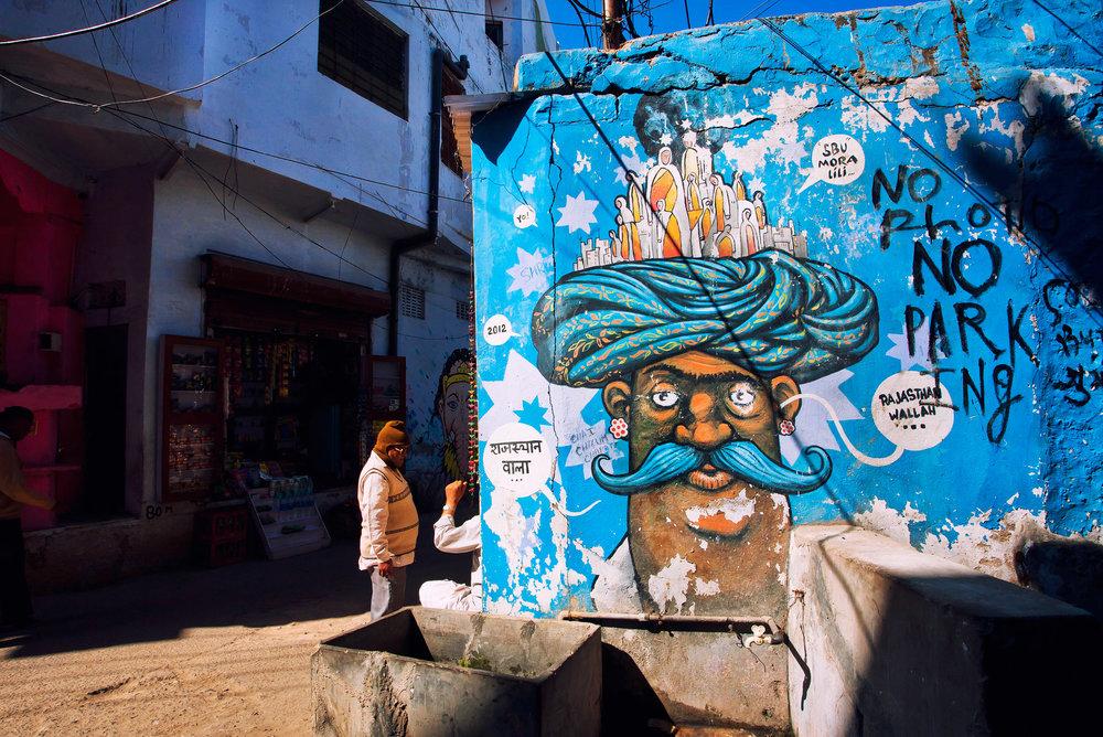 Street art in Jaipur