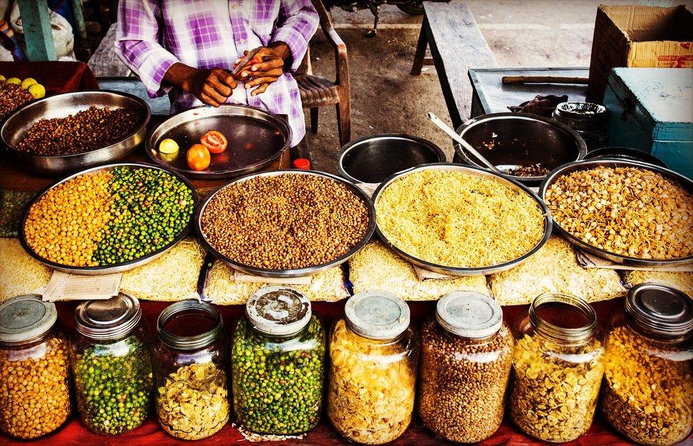 A street snack vendor
