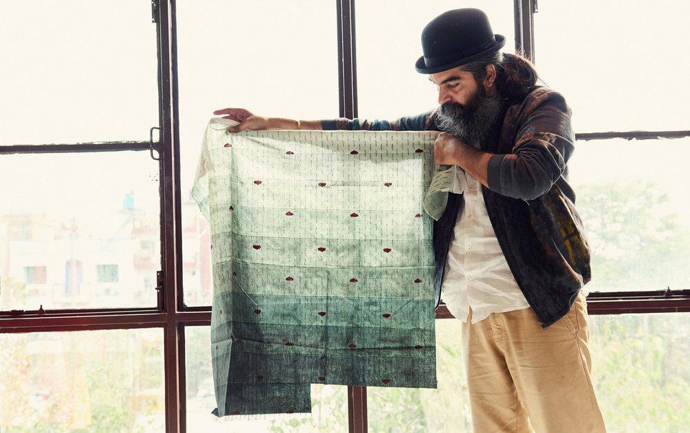 Suket Dhir in his Delhi studio