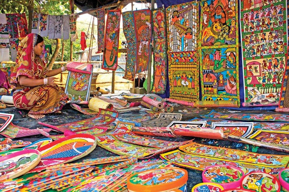A patua artist in Kolkata