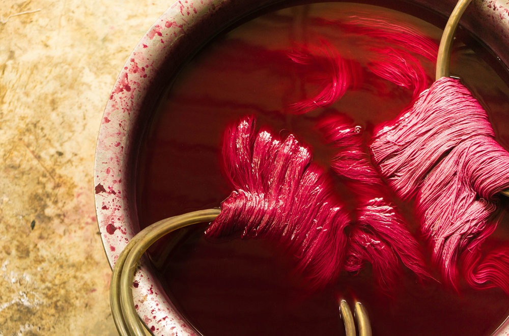 A natural dyeing workshop