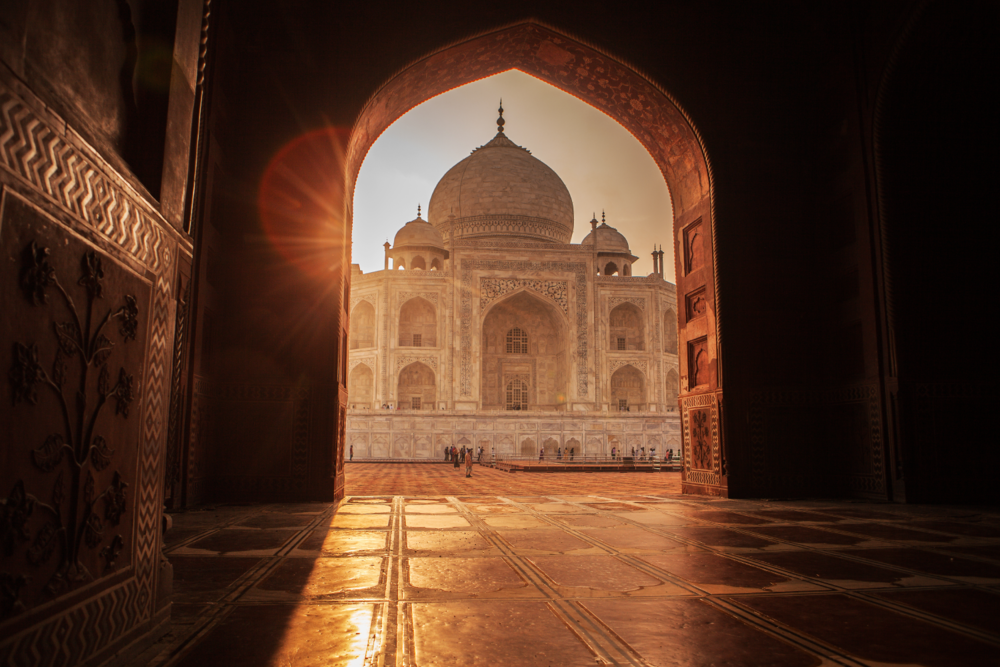 Visit the Taj Mahal minus the crowds at sunrise, guided by an expert