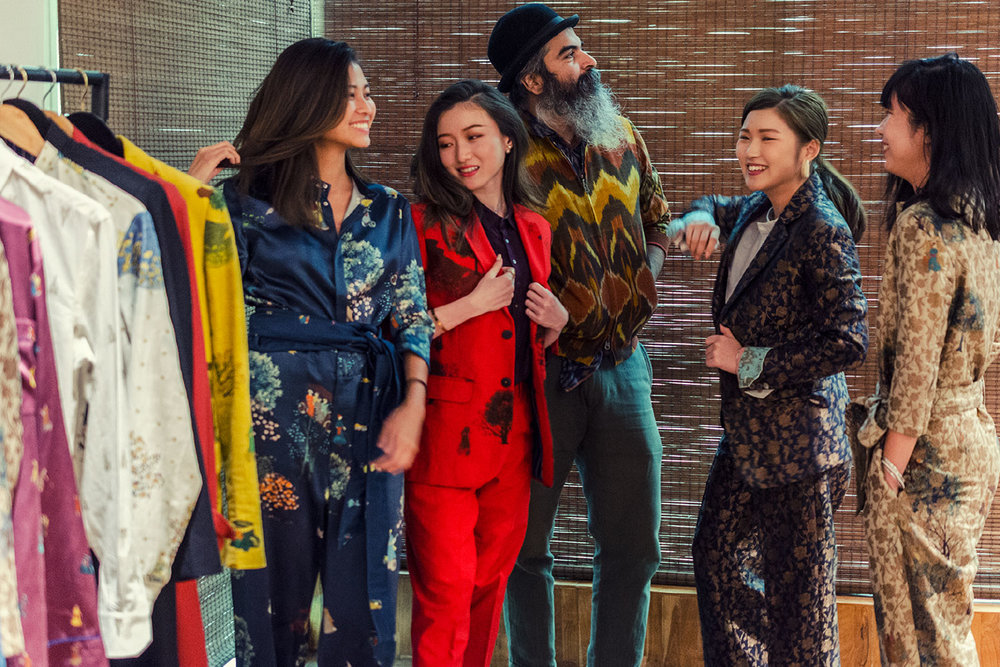 Trying on designer Suket Dhir's creations with the maestro himself