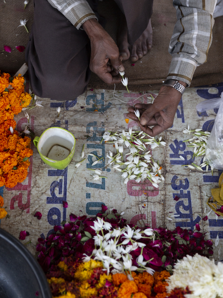 Indian flower artisan