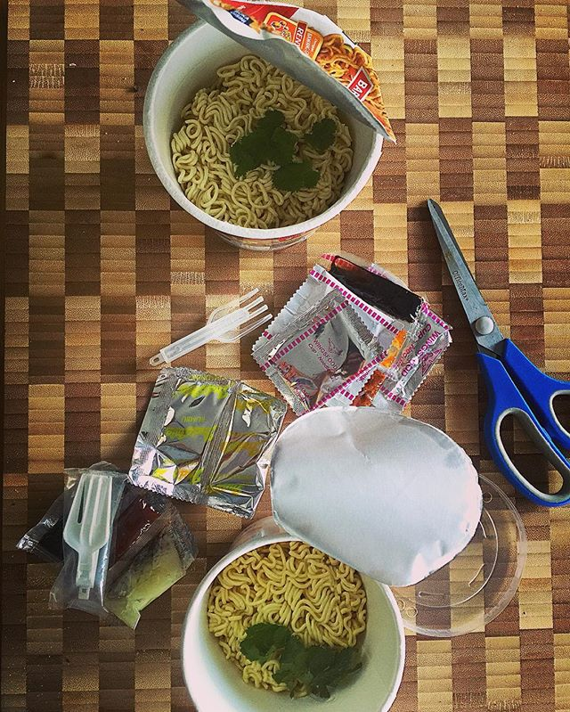 When you can't be bothered with a proper #brunch and when #instantnoodles brings you back to your university days- how simple life was back then when you didn't know any better