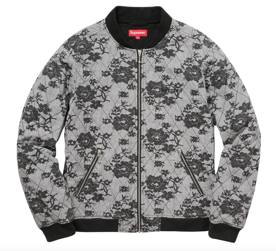 Quilted bomber by Supreme of New York