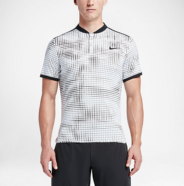 NIKECOURT ADVANTAGE men's graphic tennis polo
