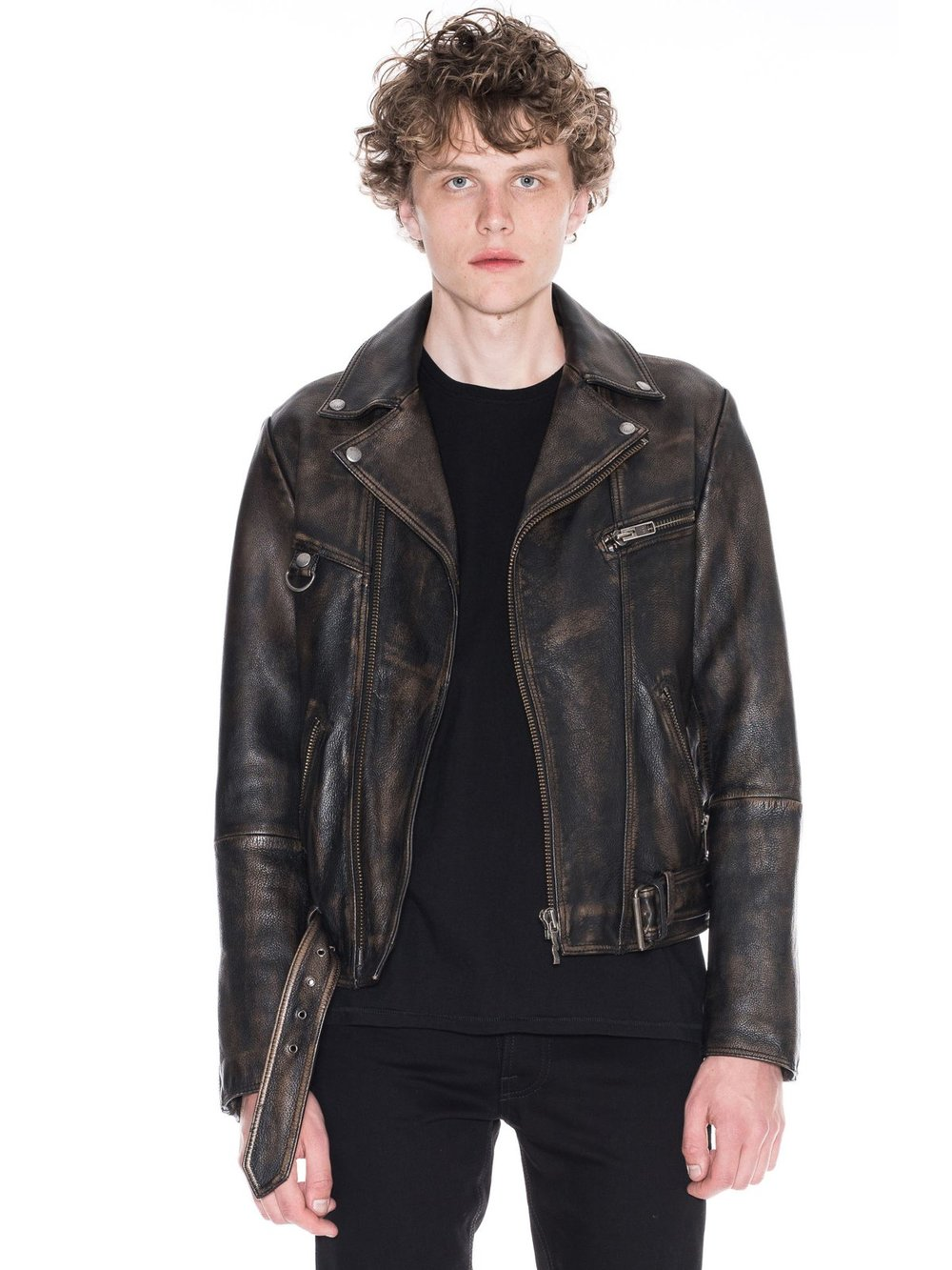 Nudie leather jacket