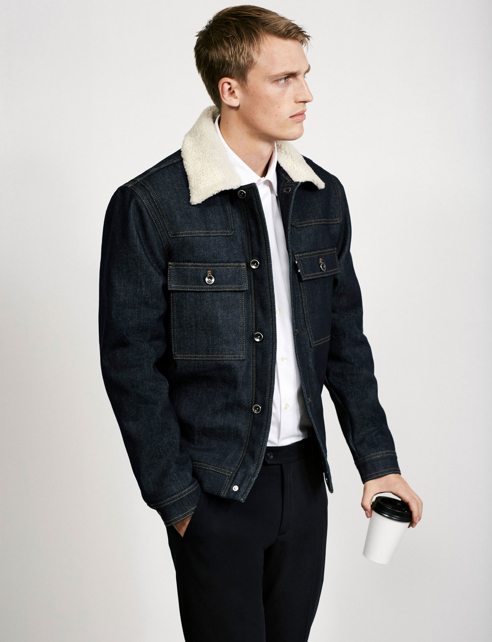 Zara Men shirling denim jacket