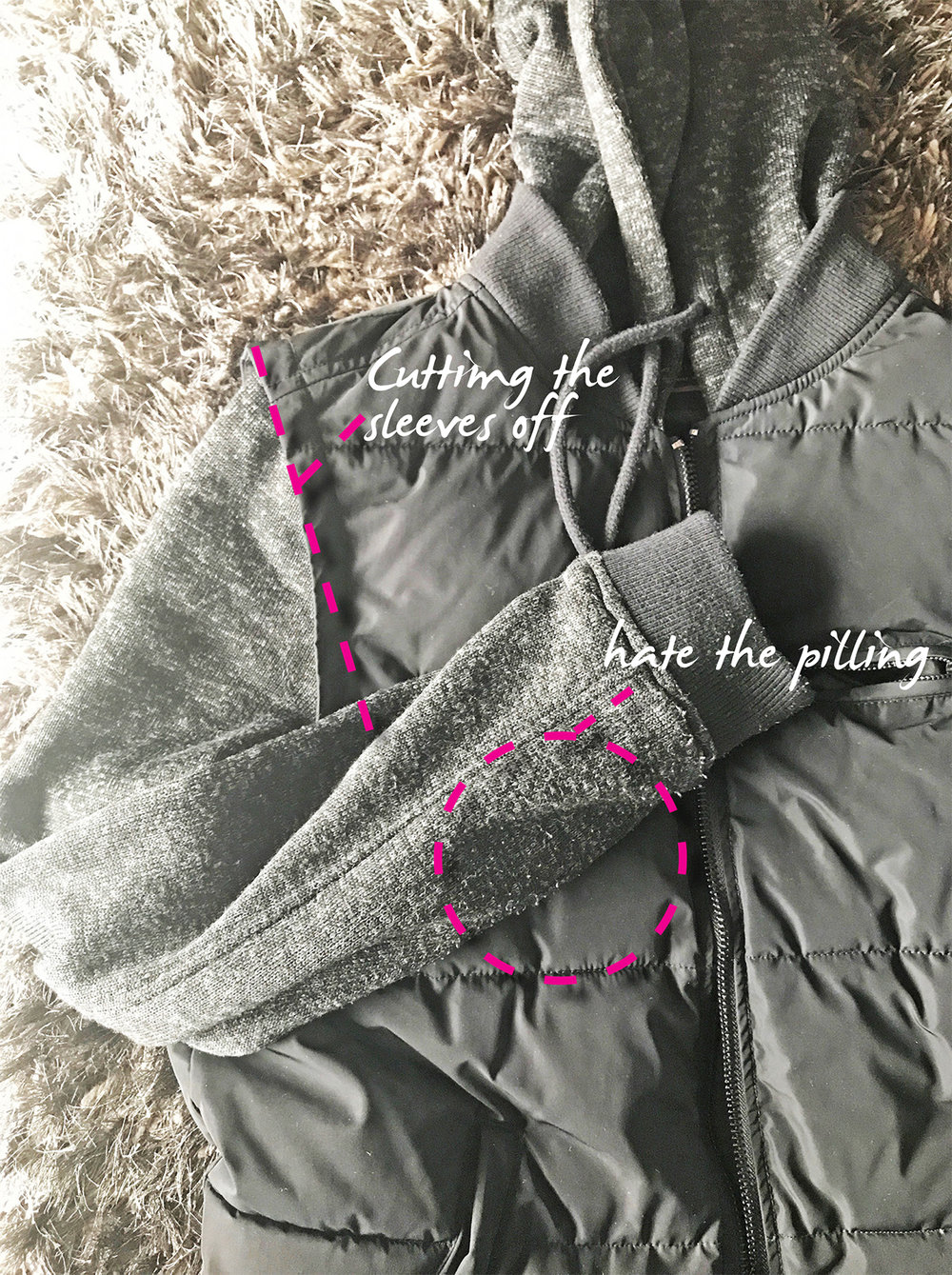 A bit of DIY so I could use a winter jacket for those summer-nights when the temperature dips