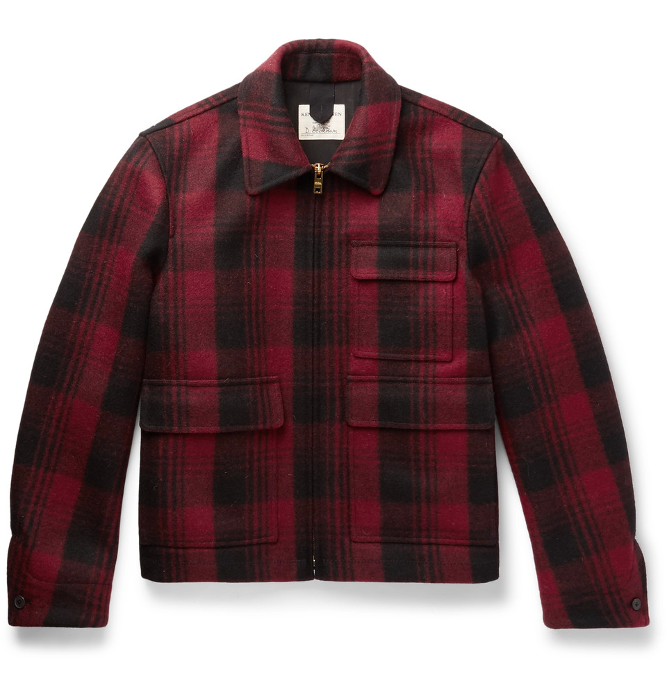 KENT & CURWEN Checked Wooo-Flannel jacket, NZD$ 2,038
