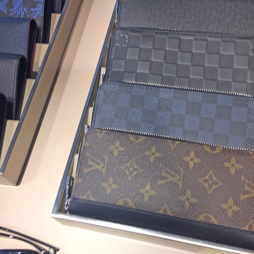 Had a browse at Louis Vuitton because why not? High-end shops are the epitome of perfect customer service even if you're not buying anything. The whole point it seems of someone actually interested in explaining to you how an expensive product is made is to show you that what you're paying for is actually worth it.