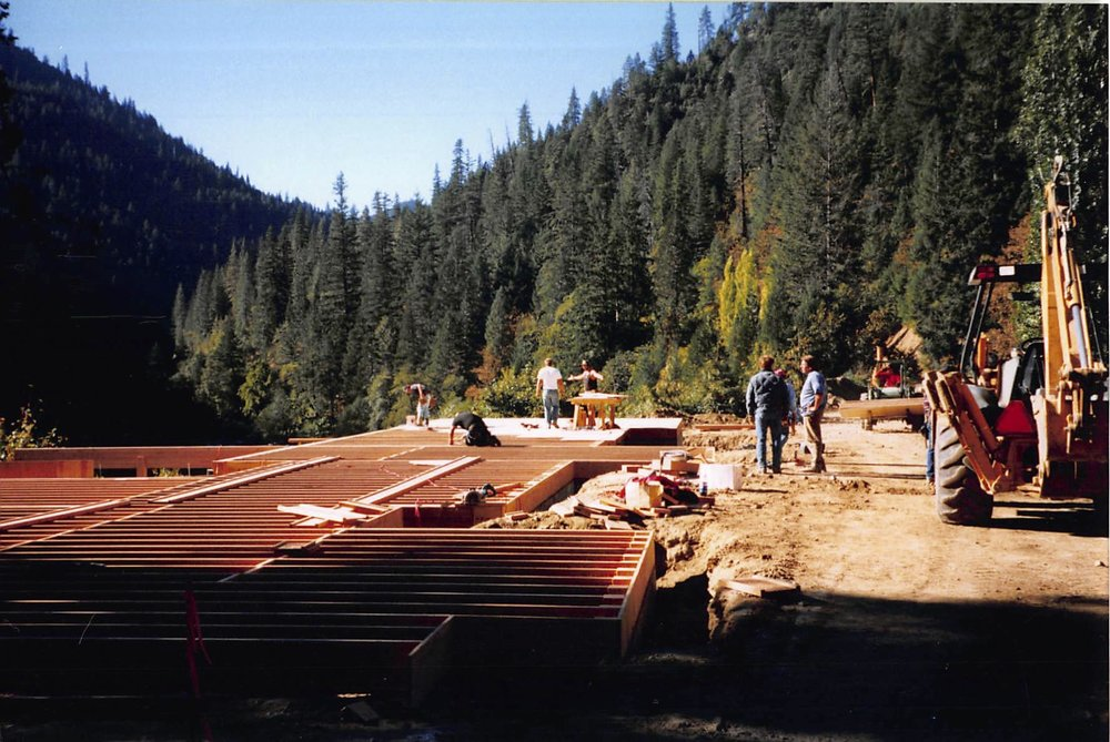 The main lodge foundation and floor. c.1994