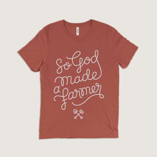 #14 So God Made a Farmer (Red) $24