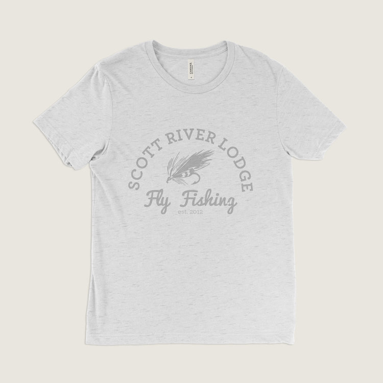 #204 Fly Fishing T-Shirt (Oatmeal) $24