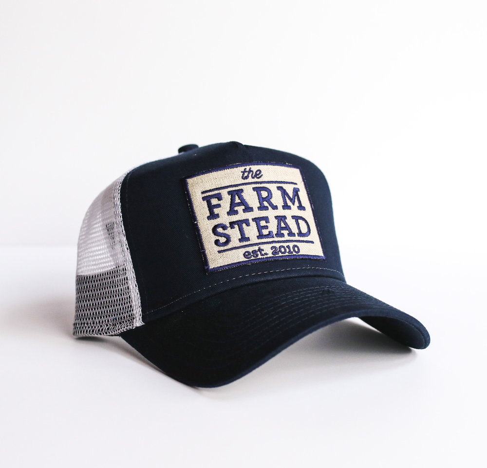 #9 Farmstead Patch Hat (Blue) $24