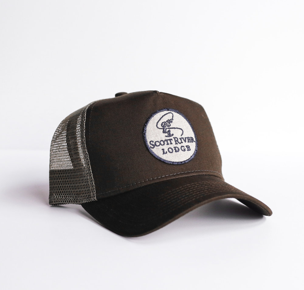 #98 Scott River Lodge Patch Hat $24