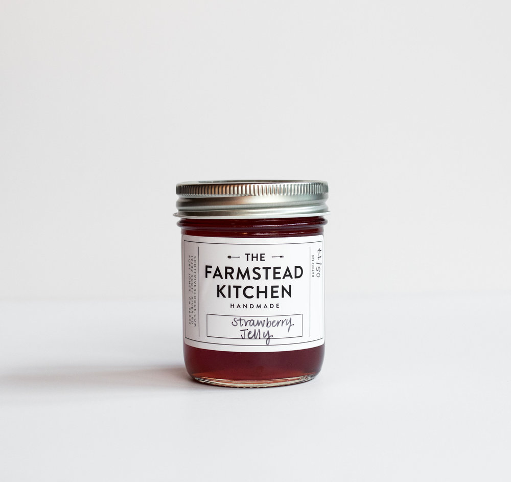 #612 Farmstead Kitchen Strawberry Jelly $6