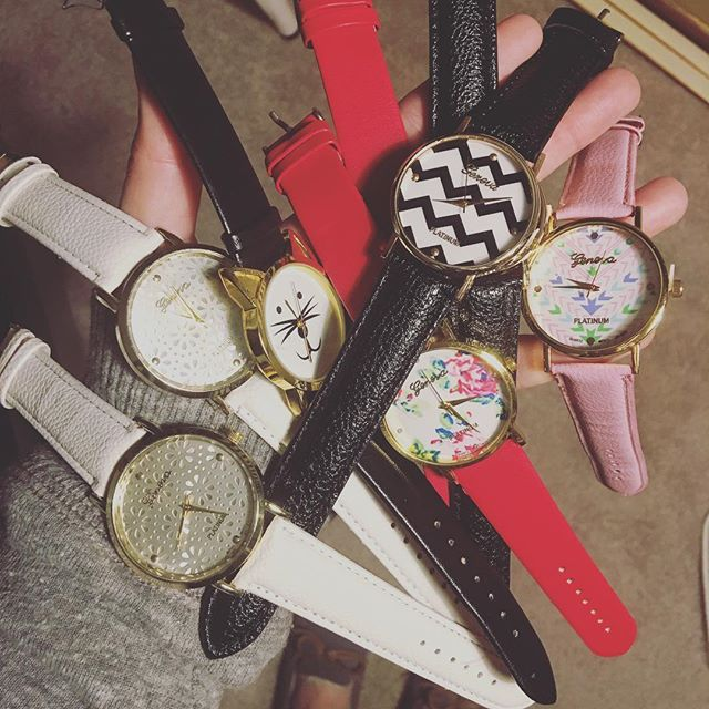 Do you have the time? ⏰ These watches are heading out to the trailer! So cute! 😍