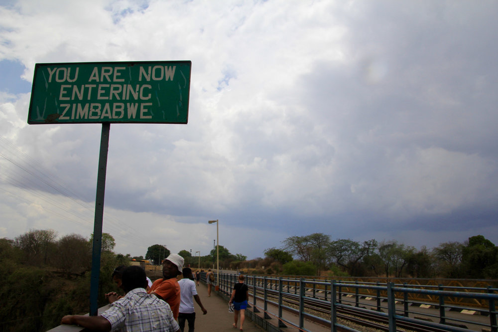 Welcome to Zimbabwe sign