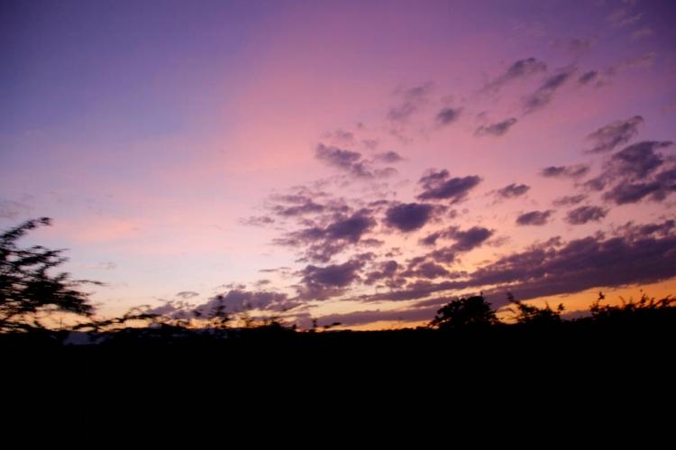 Sunrise on the way to Lake Nakuru