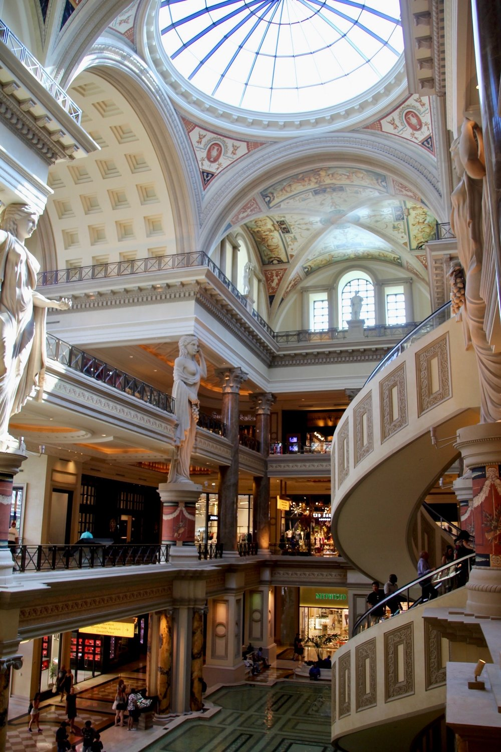Caesar's Palace - You could spend a day alone just exploring each casino