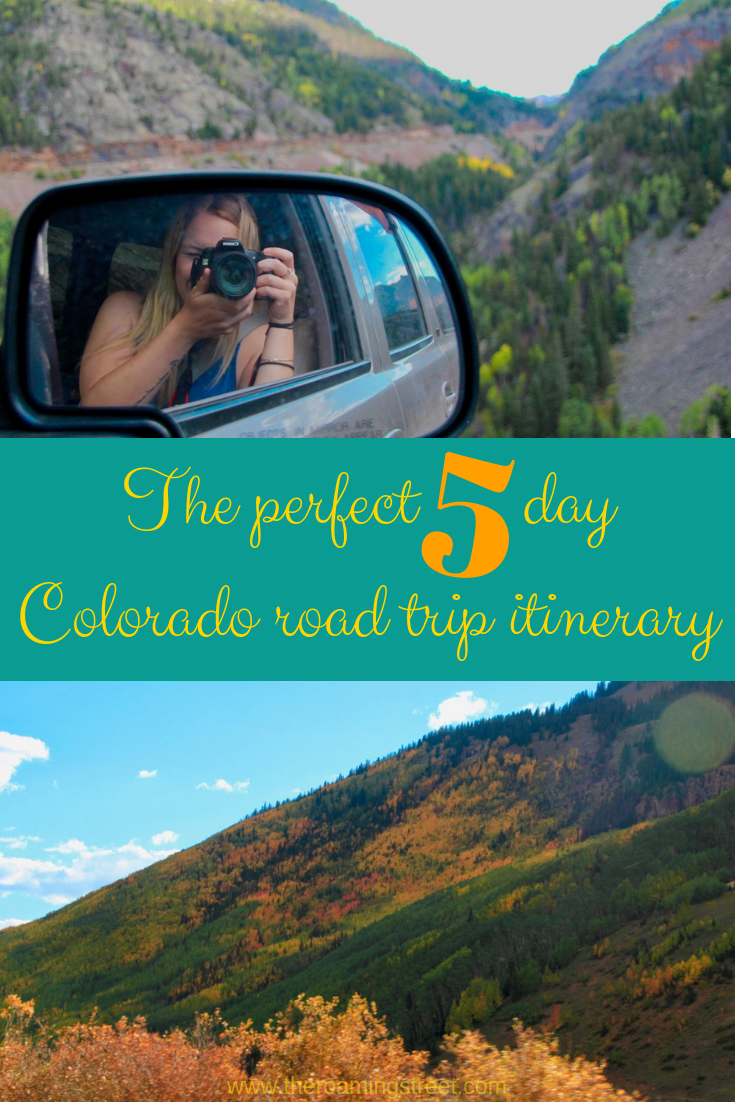 The perfect five day Colorado road trip itinerary pin 1