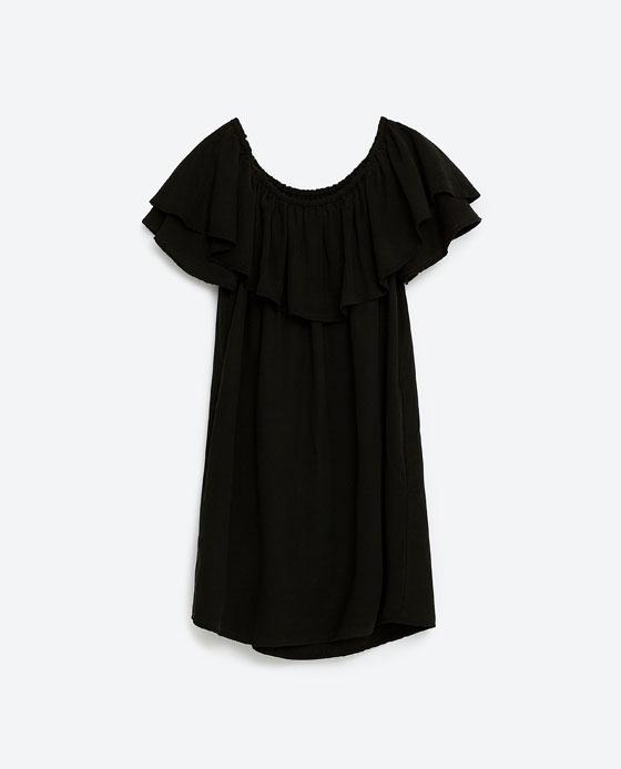 Off-the-shoulder dress Zara £29.99